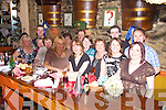 Staff of Fitzgeralds Esso Station and supermarket Listowel having a great time at Allos restaurant Listowel on Friday night.  Pictured are Mary Buckley, Betty Kelly, Noreen Foran, Madeline Collins, Mary O'Donoghue, Lisa Harty, Anna Barrette, Mary McEnery, John O'Sullivan, William Dillon, Geraldine and Muireann Mulvihill, Barry O'Connor and  Kevin Fenton.    Copyright Kerry's Eye 2008