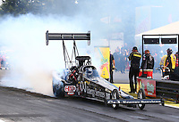 Aug. 2, 2014; Kent, WA, USA; NHRA top fuel dragster driver Bob Vandergriff Jr during qualifying for the Northwest Nationals at Pacific Raceways. Mandatory Credit: Mark J. Rebilas-