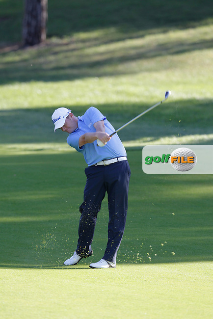 David Drysdale (SCO) plays his 3rd shot on the 3rd hole during Friday's Round 2 of the 2014 Open de Espana held at the PGA Catalunya Resort, Girona, Spain. Wednesday 16th May 2014.<br /> Picture: Eoin Clarke www.golffile.ie