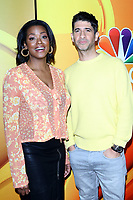 LOS ANGELES - FEB 20:  Cassandra Freeman, Raza Jaffrey at the NBC's Los Angeles Mid-Season Press Junket at the NBC Universal Lot on February 20, 2019 in Universal City, CA