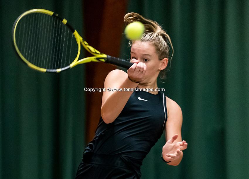 Wateringen, The Netherlands, November 27 2019, De Rhijenhof , NOJK 12 and16 years,  Eloise de Mooij (NED)<br /> Photo: www.tennisimages.com/Henk Koster