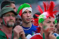 Panoramica con bandiere.Roma 01/07/2012 Euro 2012. Partita finale. Allestiti maxi schermi al Circo Massimo. .Photo Samantha Zucchi Insidefoto