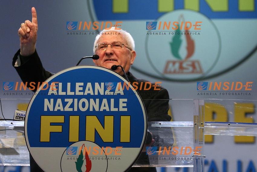 Roma, 05/01/06 Conferenza programmatica di Alleanza Nazionale. Nella foto Don Pietro Gelmini.<br /> Photo Samantha Zucchi Insidefoto