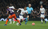 Tottenham Hotspur's Lucas Moura goes past Manchester City's Fernandinho<br /> <br /> Photographer Rob Newell/CameraSport<br /> <br /> UEFA Champions League Quarter-finals 1st Leg - Tottenham Hotspur v Manchester City - Tuesday 9th April 2019 - White Hart Lane - London<br />  <br /> World Copyright © 2018 CameraSport. All rights reserved. 43 Linden Ave. Countesthorpe. Leicester. England. LE8 5PG - Tel: +44 (0) 116 277 4147 - admin@camerasport.com - www.camerasport.com