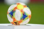 14.02.2020, Preußenstadion, Münster, GER, 3.FBL, SC Preussen Muenster vs. FC Wuerzburger Kickers, <br /> <br /> DFL REGULATIONS PROHIBIT ANY USE OF PHOTOGRAPHS AS IMAGE SEQUENCES AND/OR QUASI-VIDEO<br /> <br /> im Bild<br /> Spielball. Feature / Symbol / Symbolfoto / charakteristisch / Detail<br /> <br /> Foto © nordphoto / Paetzel