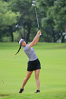 Michelle Wie (USA) hits her approach shot on 9 during round 2 of  the Volunteers of America Texas Shootout Presented by JTBC, at the Las Colinas Country Club in Irving, Texas, USA. 4/28/2017.<br /> Picture: Golffile | Ken Murray<br /> <br /> <br /> All photo usage must carry mandatory copyright credit (&copy; Golffile | Ken Murray)