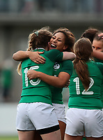 2nd February 2020; Energia Park, Dublin, Leinster, Ireland; International Womens Rugby, Six Nations, Ireland versus Scotland; Lauren Delany (Ireland) and Sene Naoupu (Ireland) celebrate the win