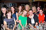 Enjoying themselves in Zest,Killorglin last Saturday night to raise funds for the people devastated by the recent hurricane in the Philippines were (front)L-R Betty Griffin,Orla Diffley,Margaret Brick&Ita Elezi(Back)L-R Jill Hannon,Tina Griffin,Carol Kennelly,Mary Stapleton,Jasmine Sands &Tara O'Donoghue.