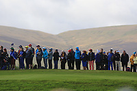 Some of the crowd along the 7th during Day 1 Foursomes at the Solheim Cup 2019, Gleneagles Golf CLub, Auchterarder, Perthshire, Scotland. 13/09/2019.<br /> Picture Thos Caffrey / Golffile.ie<br /> <br /> All photo usage must carry mandatory copyright credit (© Golffile | Thos Caffrey)