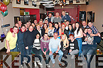 NIFTY SURPRISE: Gerard Nammock, Mitchells Rd, Tralee (seated centre) enjoyed the big surprise he got when he walked into the Slievemish bar, Tralee last Saturday night to find his family had organised a fab party for his 50th birthday.