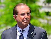 United States Secretary of Health and Human Services Alex Azar Meets Reporters at the White House