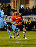 Picture by David Horn/eXtreme Aperture Photography +44 7545 970036<br /> 26/11/2013<br /> Jonathan Smith of Luton Town watches as his shot beats the keeper to make it 2-0 during the Skrill Premier match at Kenilworth Road, Luton.
