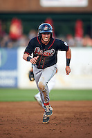Great Lakes Loons second baseman Jimmy Allen (15) running the bases during a game against the Kane County Cougars on August 13, 2015 at Fifth Third Bank Ballpark in Geneva, Illinois.  Great Lakes defeated Kane County 7-3.  (Mike Janes/Four Seam Images)