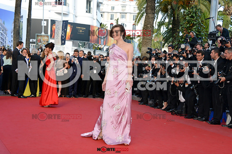 """Milla Jovovich attending the """"On the Road"""" Premiere during the 65th annual International Cannes Film Festival in Cannes, 23.05.2012...Credit: Timm/face to face"""