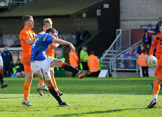 Andy Little misses a chance to equalise right at the end of the match