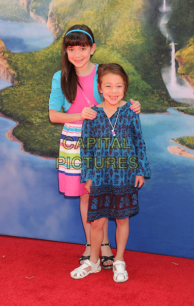 BURBANK, CA- MARCH 22: Actresses Chloe Noelle (L) Aubrey Anderson-Emmons attend the premiere of DisneyToon Studios' 'The Pirate Fairy' at Walt Disney Studios on March 22, 2014 in Burbank, California.<br /> CAP/ROT/TM<br /> &copy;Tony Michaels/Roth Stock/Capital Pictures