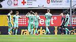 Jubel bei den Spieler der TSG Hoffenheim ueber das 0:1.<br />