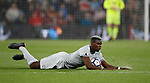 Paul Pogba of Manchester United lies on the floor following a foul during the premier league match at the Vitality Stadium, Bournemouth. Picture date 18th April 2018. Picture credit should read: David Klein/Sportimage