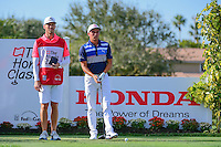 Rickie Fowler (USA) looks over his tee shot on 12 during round 3 of the Honda Classic, PGA National, Palm Beach Gardens, West Palm Beach, Florida, USA. 2/25/2017.<br /> Picture: Golffile | Ken Murray<br /> <br /> <br /> All photo usage must carry mandatory copyright credit (&copy; Golffile | Ken Murray)