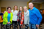 1 year anniversary awards and celebration of ParkRun Tralee in the Brandon Hotel on Saturday Pictured l-r kristy novak, Yvonne Quill, Shannon Quill, Moira Horgan and Pat Sheehy from St. Brendan's Athletic club