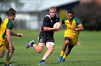 Anton Segner in action during the rugby union match between New Zealand Schools and Australia Under-18s at St Paul's Collegiate in Hamilton, New Zealand on Friday, 4 October 2019. Photo: Dave Lintott / lintottphoto.co.nz