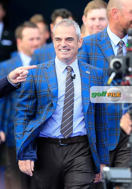 Europe Captain Paul McGinley during the Opening Ceremony on Thursday at the 40th Ryder Cup, The Gleneagles Hotel, Perthshire from 26th to 28th September 2014<br /> Picture Eoin Clarke, www.golffile.ie