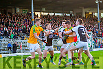 Aidan Walsh and Daniel Daly South Kerry in Action against Damien O'Sullivan, Chris Davies and Danny Sheahan Legion in the Kerry County Senior Football Final at Fitzgerald Stadium on Sunday.