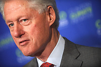***FILE PHOTO*** Bill Clinton Has Not Apologized To Monica Lewinsky And Claims Did The Right Thing Staying In Office.<br /> <br /> Bill Clinton and Michael Bloomberg announce the merger of their environmental groups, Clinton Global Initiative, and the C40 Cities Climate Leadership Group, launching The CIties Program. New York City. April 13, 2011. <br /> CAP/MPI01<br /> &copy;MPI01/Capital Pictures