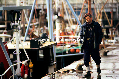 Fishing industry Fleetwood Lancashire Uk 1980s