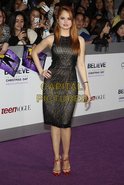 18 December 2013 - Los Angeles, California - Debby Ryan. &quot;Justin Bieber's Believe&quot; World Premiere held at Regal Cinemas L.A. Live. <br /> CAP/ADM/KB<br /> &copy;Kevan Brooks/AdMedia/Capital Pictures