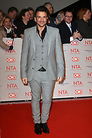 Peter Andre attending the National Television Awards 2018 at The O2 Arena on January 23, 2018 in London, England. <br /> CAP/Phil Loftus<br /> &copy;Phil Loftus/Capital Pictures
