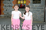 Katie and Niamh Foley from Lixnaw at the 55th Féile Cheoil Step dancing competitions at the Ceolann building Lixnaw on Saturday