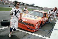 Darrell Waltrip pits pit stop Daytona 500 at Daytona International Speedway in Daytona Beach, FL on February 14, 1988. (Photo by Brian Cleary/www.bcpix.com)