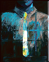 "Torso #7-3 by Robert Inman, Acrylic on Canvas, 30"" x 24"""