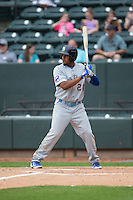 Jeimer Candelario (24) of the Myrtle Beach Pelicans at bat against the Winston-Salem Dash at BB&T Ballpark on April 18, 2015 in Winston-Salem, North Carolina.  The Pelicans defeated the Dash 4-1 in game one of a double-header.  (Brian Westerholt/Four Seam Images)