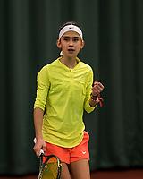 Netherlands, The Hague,  March 10, 2017, Tennis,  National Indoor Junior Championships, NOJK, 12-16 years, Sophie Stoyanov (NED)<br /> Photo: Tennisimages/Henk Koster