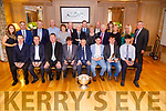 Recipents who were presented with the kerry Supporters Club 2019 Awards at the Kery Supporters Club 29th Anniversary dinner daance at Ballygarry House hotel Tralee on Satrurday night.  Front Ian brick, Pater Keane, Tim Murphy (Chairman KCB), Gary O'Sullivan (Special Guest), Donie O'Leary (chairman KSC), Jason Diggins, Sean Weir and Paul O'Shea. Back Triona Brassil, Martin Leane,John King,Tommy Dowling,Kit Ryan,John Joe Sugrue,Dan Dwyer,Jimmy Keane,Carmel Mansfield,Brendan McCarthy,Jimmy Shanahan,Leanne Ryan,Bridie and Grainne howard and Joh O'Connell