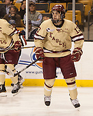 Johnny Gaudreau (BC - 13) - The Boston College Eagles defeated the Northeastern University Huskies 6-3 for their fourth consecutive Beanpot championship on Monday, February 11, 2013, at TD Garden in Boston, Massachusetts.