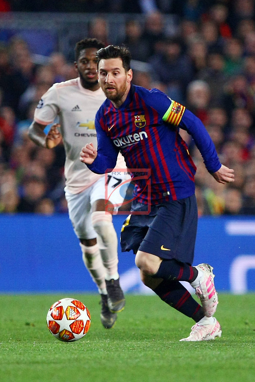 UEFA Champions League 2018/2019.<br /> Quarter-finals 2nd leg.<br /> FC Barcelona vs Manchester United: 3-0.<br /> Lionel Messi.