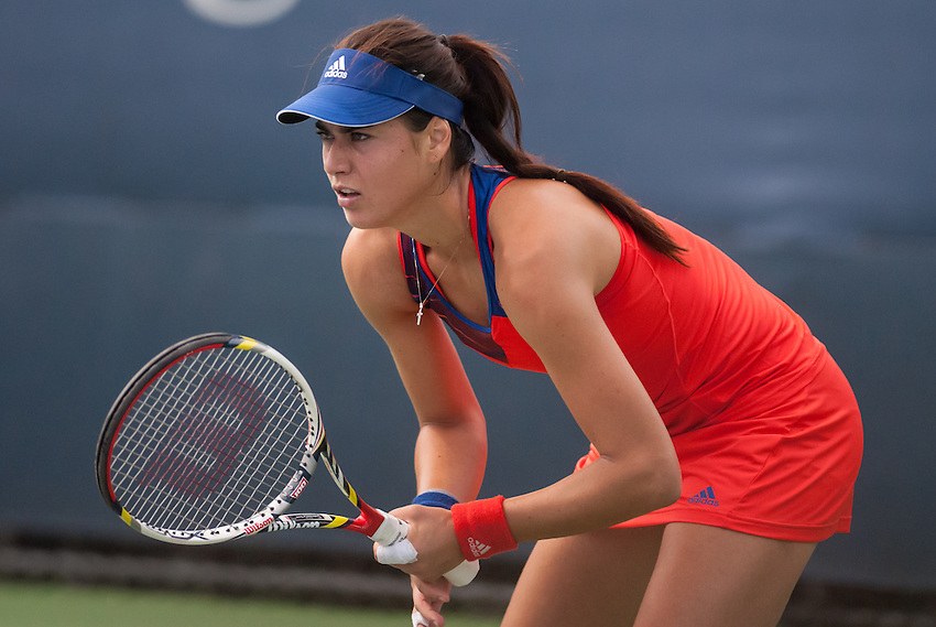 NEW YORK, NY - August 26, 2013: Sorana Cirstea (ROU) during her first round single's match at the 2013 US Open in New York, NY on Monday, August 26, 2013.