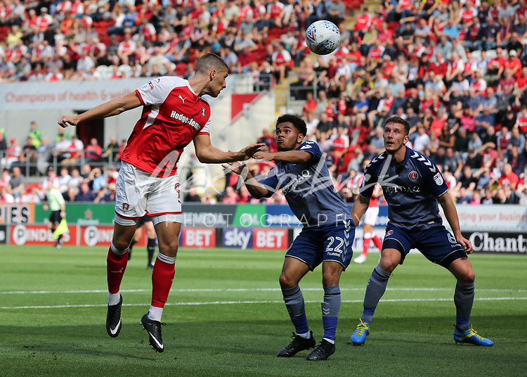 Rotherham United VS Charlton Athletic, New York Stadium Rotherham, Saturday 26th August 2017 <br /> <br /> <br /> Picture - Alex Roebuck / www.alexroebuck.co.uk