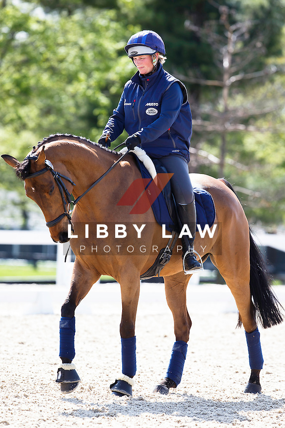 GBR-Zara Phillips (HIGH KINGDOM) training: 2015 USA-Rolex Kentucky Three Day Event CCI4* (Wednesday 22 April) CREDIT: Libby Law COPYRIGHT: LIBBY LAW PHOTOGRAPHY