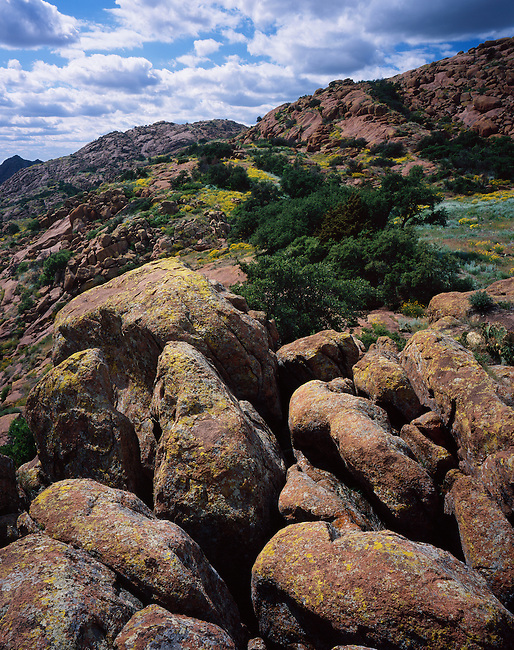 Granite outcrops; Wichita Mountains, Quartz Mountain State Park; Oklahoma