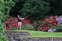 Play on the 9th tee during the Preview of the AIG Cups & Shields Connacht Finals 2019 in Wesport Golf Club, Westport, Co. Mayo on Thursday 8th August 2019.<br /> <br /> Picture:  Thos Caffrey / www.golffile.ie<br /> <br /> All photos usage must carry mandatory copyright credit (© Golffile | Thos Caffrey)