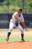 GCL Braves pitcher Jhon Martinez (60) delivers a pitch during the second game of a doubleheader against the GCL Yankees 1 on July 1, 2014 at the Yankees Minor League Complex in Tampa, Florida.  GCL Braves defeated the GCL Yankees 1 by a score of 3-1.  (Mike Janes/Four Seam Images)