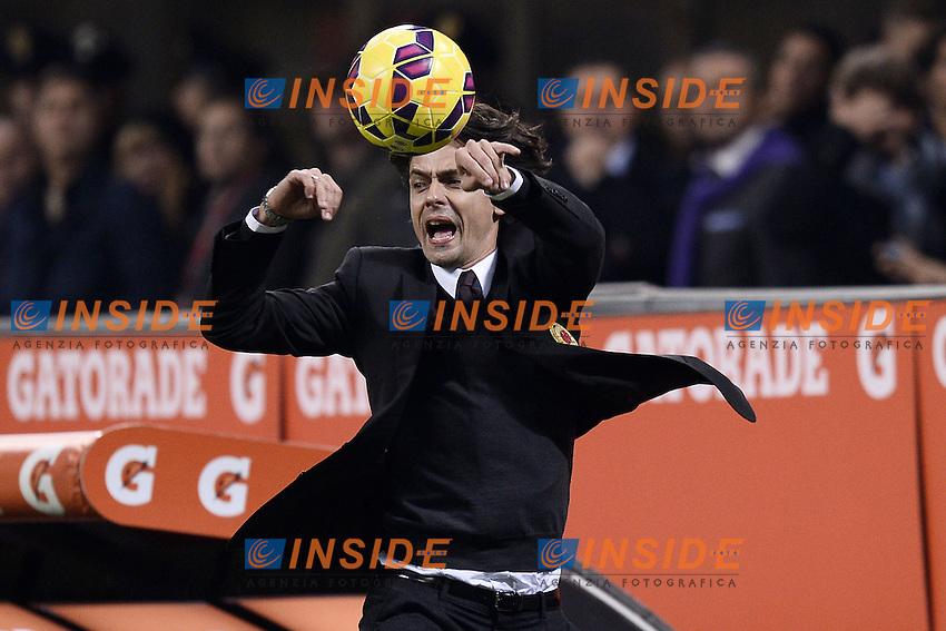 Filippo Inzaghi Milan <br /> Milano 23/11/2014 Stadio Giuseppe Meazza Football Calcio Serie A 2014/2015 Milan-Inter foto Daniele Buffa/Image Sport/Insidefoto