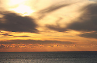 Stock photo:Dramatic cloud patterns in the evening sky over Mediterranean sea in Cyprus.
