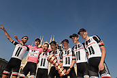 28th May 2017, Milan, Italy; Giro D Italia; stage 21 Monza to Milan; The victorious Team Sunweb with winner Dumoulin, Tom; Milano Piazza Duomo;