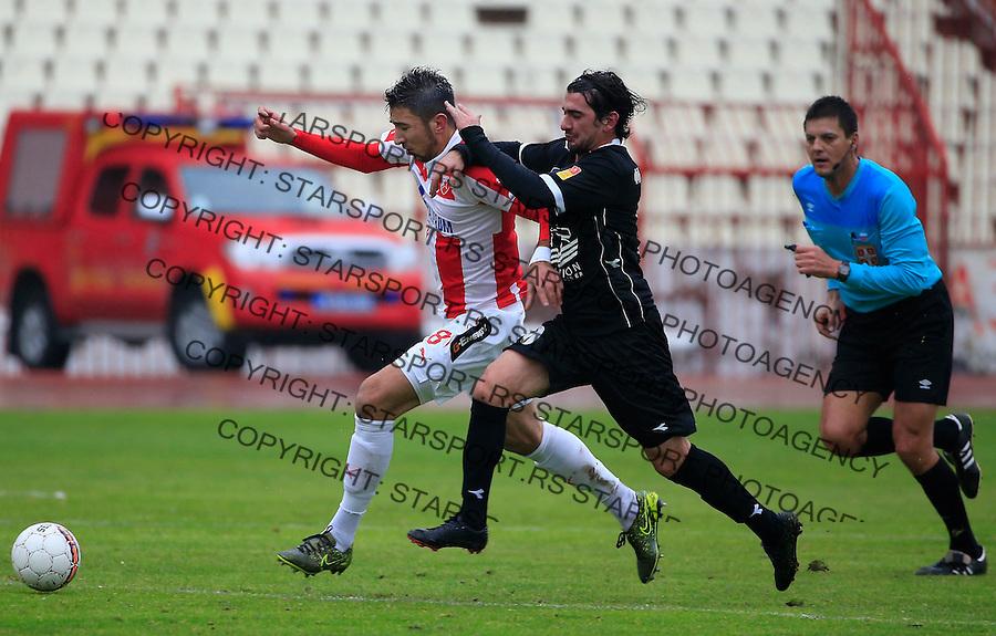 Fudbal Jelen Super League season 2015-2016<br /> Crvena Zvezda v Vozdovac<br /> Marko Grujic (L) and Marko Adamovic<br /> Beograd, 28.11.2015.<br /> foto: Srdjan Stevanovic/Starsportphoto&copy;