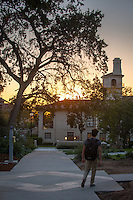 Sunset over the JSC on Oct. 29, 2015.<br />